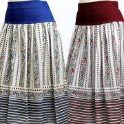 【初秋物】レディース スカート ヨーロピアン調プリントが可愛いらしいフレアースカート