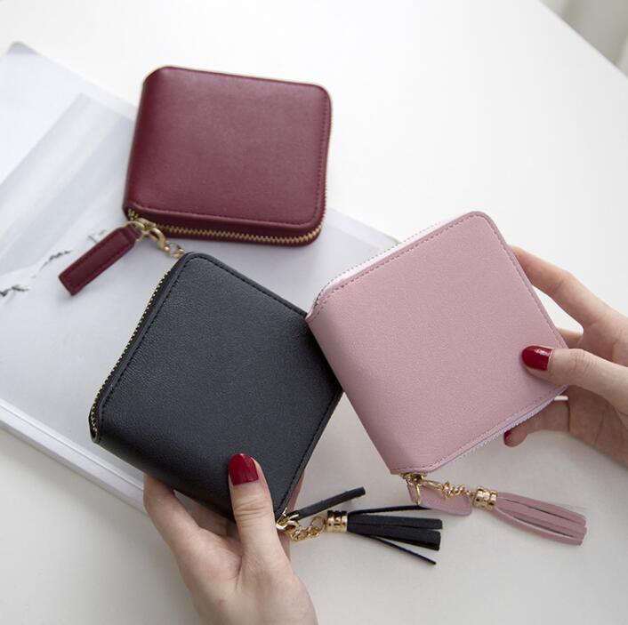 ミニ財布 手のひらサイズ 3色 シンプルなデザイン コンパクト レディース 小銭入れ カード入れ