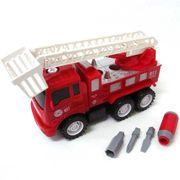 <ミニカー・知育玩具>自分で組み立てよう! DIYフリクショントラック はしご車 No.201-155