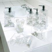 プランツ柄×透明アクリルのモダンな洗面小物 『サリナ』