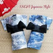 日本製 セレブスタイル 高品質ペットウェア 犬服 波しぶき(グレー・ブルー) S/M/L