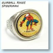 GUMBALL RINGS SPIDERMAN 【 ガムボール リング スパイダーマン 】
