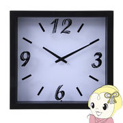 【メーカー直送】不二貿易 掛時計 ペイント 直径23cm ホワイト FUJI-99031