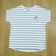 【アウトレット価格】パンダ柄プリント フレンチスリーブTシャツ