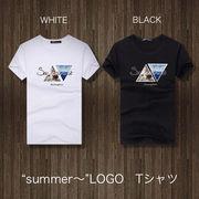 2018 春夏 メンズ Tシャツ カットソー ロゴ サーフ summer プリント