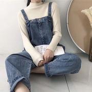 夏服 韓国風 新しいデザイン 何でも似合う デニムオーバーオール 女 ルース 着やせ 個
