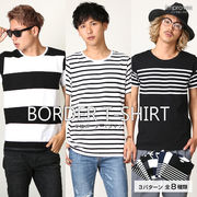 【improves】マルチパターンボーダーTシャツ サーフ