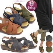 【再入荷】【再販売】パンジーサンダル 靴 レディース 歩きやすい ストラップ フラット
