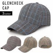 帽子 キャップ メンズ レディース グレンチェック チェック ベースボールキャップ キーズ Keys