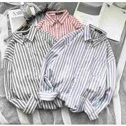 秋冬新作メンズワイシャツ トップス 長袖 おしゃれ ゆったり♪ブルー/ピンク/グレー3色