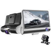 3カメラドライブレコーダー 前方・車内・後方を同時に録画 駐車中でも監視可能