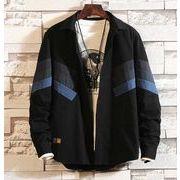 秋冬新作メンズワイシャツ ジャケット トップス大きいサイズ おしゃれ シンプル♪ブラック/ブルー2色