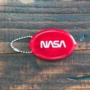 NASA公認コインケースキーチェーン・ロゴタイプ(ワーム)
