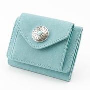 【雑貨】5月売れ筋商品 コンチョボタン三つ折り財布 デイ