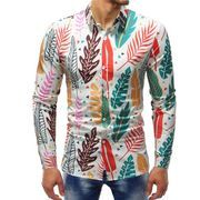 秋冬新作メンズワイシャツ トップス花柄 大きいサイズ おしゃれ シンプル通勤通学