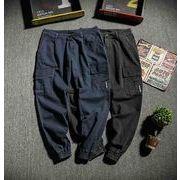 秋冬新作メンズパンツ ズボン大きいサイズ シンプル おしゃれ♪ブラック/ダークブルー2色