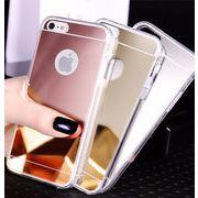 送料込 シンプル ミラータイプ iphoneケース 4カラー
