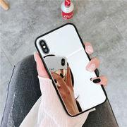 iPhoneSE ケース 送料込 ミラー iPhonePRO MAX鏡 シンプル iPhone11TPU シルバー