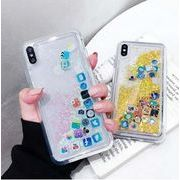 iphone11Promax 7 iphonexケースグリッター シルバー アート デザイン iPhoneケース 送料無 S