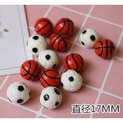 ハンドメイド 樹脂素材  サッカー  バスケットボール アクセサリーパーツ