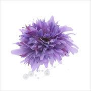 お花とパールのクリップ付きコサージュ