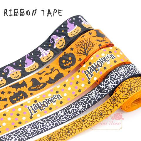 ハンドメイド用♪ハロウィン♪リボンテープ♪25mm幅♪15mm幅♪1m★リボンテープ/材料/Ribbontape094