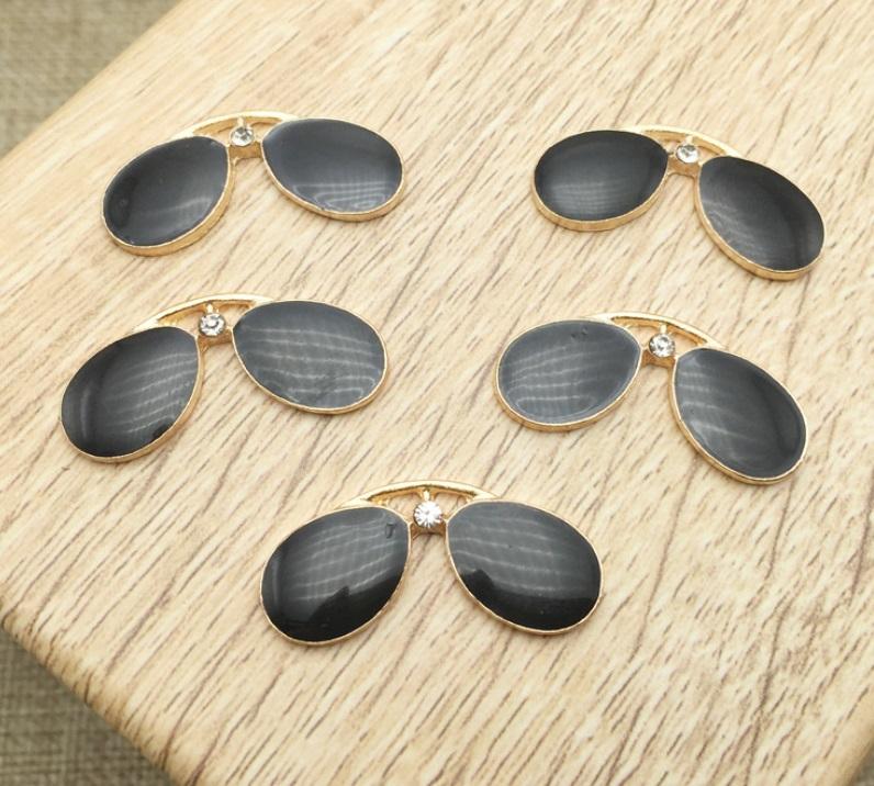 韓国大人気 手作 髪飾り サングラス 眼鏡 合金部品 頭の飾り アクセサリー 部品材料