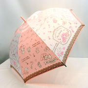 【雨傘】【ジュニア用】55cmマイメロディリラックス柄ジャンプ傘