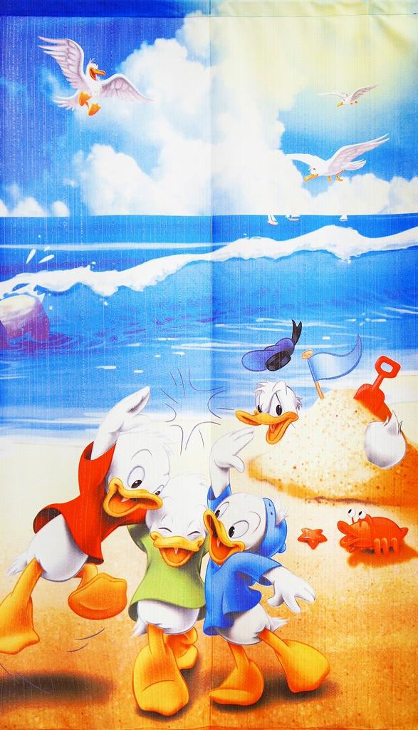 のれん   150cm丈 ディズニー 「 Ultra Marine 夏ドナルド 」【日本製】 コスモ 目隠し