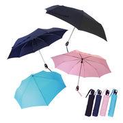 [55cm]自動開閉折りたたみ傘 紳士 婦人 メンズ レディース