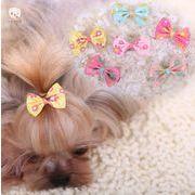 新発売 猫犬のヘアピン 頭飾り ペット用品 ネコ雑貨 ペットアクセサリー