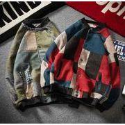 秋冬新作メンズコート ジャケット トップス大きいサイズ おしゃれ♪レッド/グリーン2色