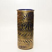 【イタリア製】 陶器かさ立て ブロンズ/ブルー (KPO/96-1333)