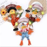 ハロウィン 道具 花輪 稲作人掛け物 魔女円環 つり飾り かぼちゃつり革の人形 門札 ドアがかかる