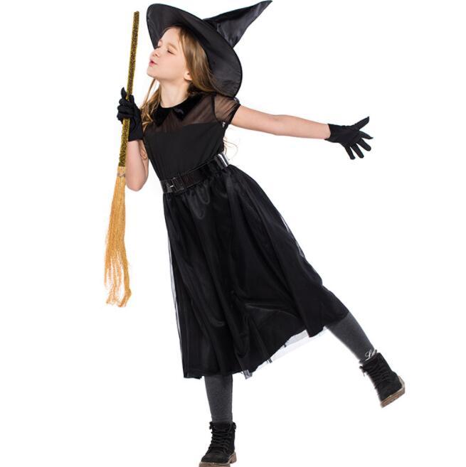 ハロウィン衣装 子供用 魔女 ブラック コスチューム ハロウィン キッズ服