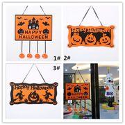 ハロウィン 掛け飾 綿布 かぼちゃ クモ コウモリ 幽霊 掛け物 シーンアクセサリー 道具を配置する