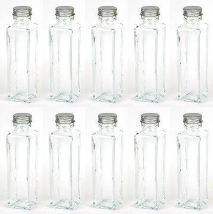 【即納】ハーバリウム用ボトルスクエア150ml 10本セット 日本製 シルバーキャップ付き