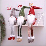 人気品 クリスマス用品 無顔人形 欧米風の老人 荷を置く