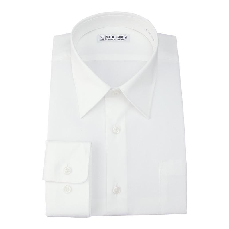 長袖スクールシャツ 男子 形態安定/防汚加工/抗菌防臭 白 150B-185B