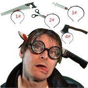ハロウィン 手道具を着る パーティー用品 整人道具 首の刀を着る 頭の斧を着る 頭針を着る