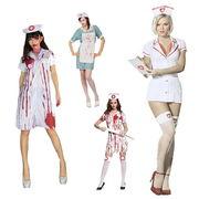 ハロウィン コスプレ 衣装 仮装 女 医者 ナース 白衣 全4種 コスチューム ドクター 看護婦 qx10069-2