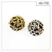 【riki-700】透かしメタル  rikiビーズ ヴィンテージ風 モダンビーズ デザイン ハンドメイド