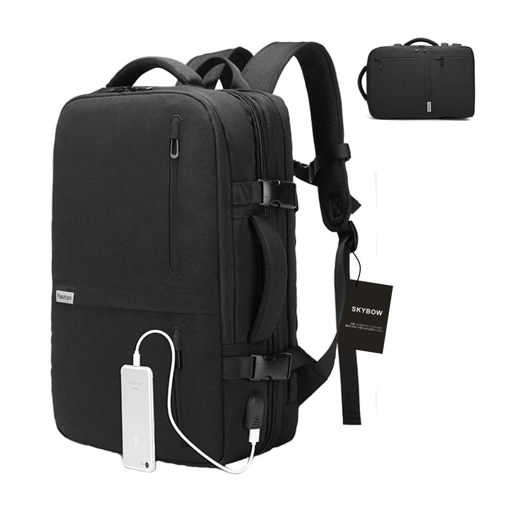 3WAY ビジネスバッグ リュック ショルダー マチ拡張 最大35L A4収納 USB ポート キャリーサポーター付き