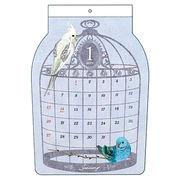 ダイカット壁掛けカレンダー 鳥かご
