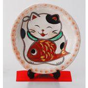 めでたい猫絵皿