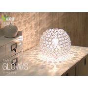 クリスタルテーブルライト led ガラス モダン 1灯 きらきら GLOW CTL-2639