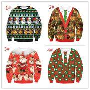 クリスマス 新金 熱売り サンタクロース デジタルプリント 円襟の長袖