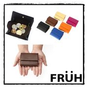 【FRUH】コンパクト・ウォレット イタリアンレザー三つ折り財布 GL032