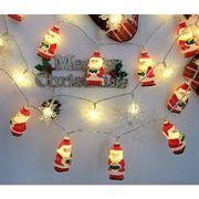 led 雪片が串刺しになる サンタクロース 電池ランプ 店舗のイルミネーション アウトドアライト