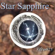 大きいサイズ / 09-30-8  ◆ Silver925 シルバー ライオン リング スター サファイア 19号